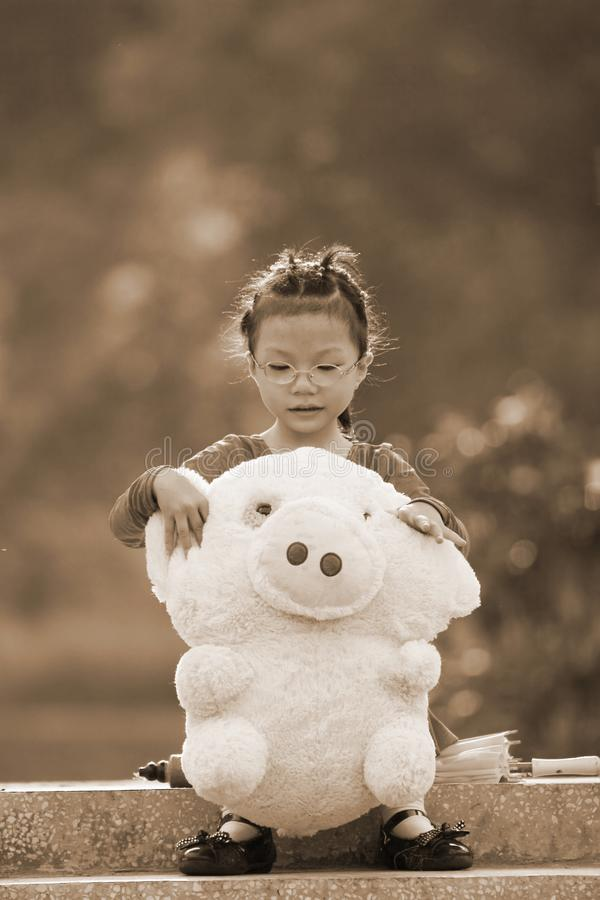Download Autumn girl stock photo. Image of active, child, asian - 6839628