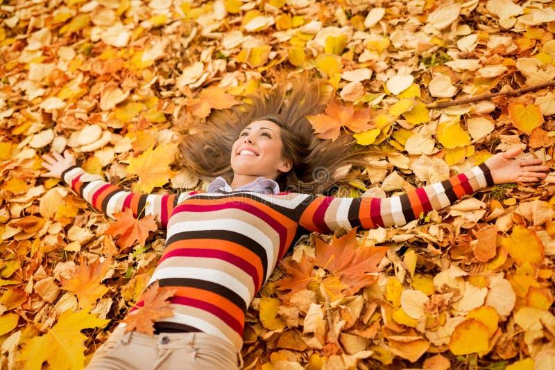 Autumn Girl imagenes de archivo