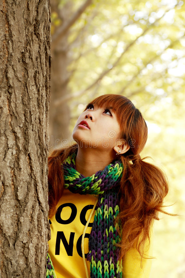 Download Autumn girl stock photo. Image of chinese, face, copy - 6959834
