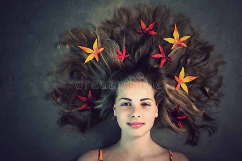 Autumn Girl royaltyfria foton