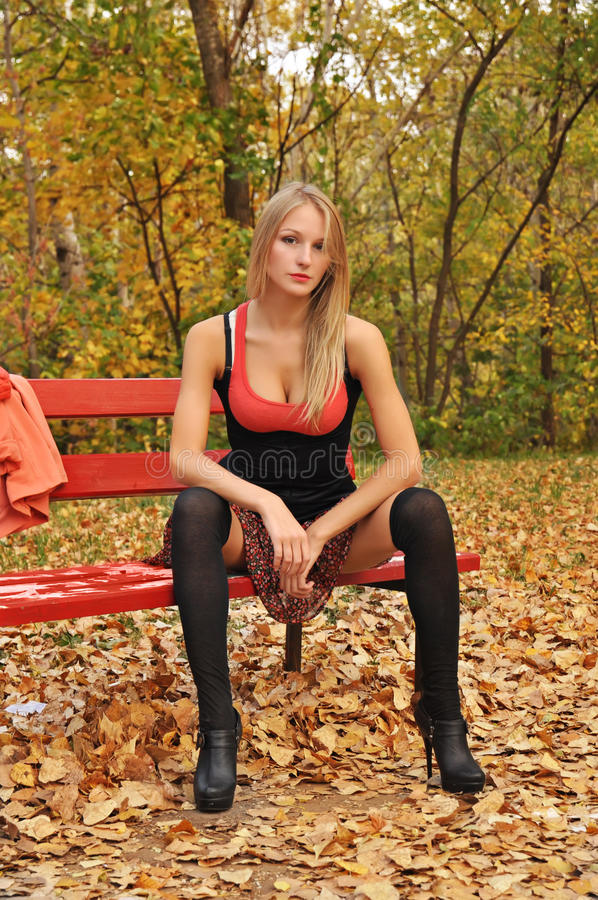 Download Autumn girl portrait stock photo. Image of beautiful - 26422526