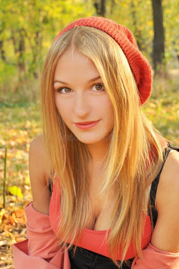 Autumn girl portrait royalty free stock photos