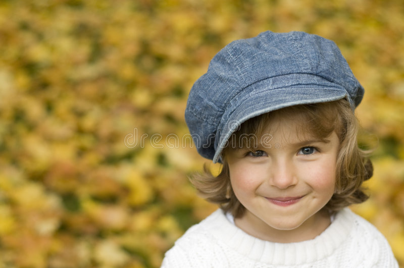 Autumn girl portrait stock photo