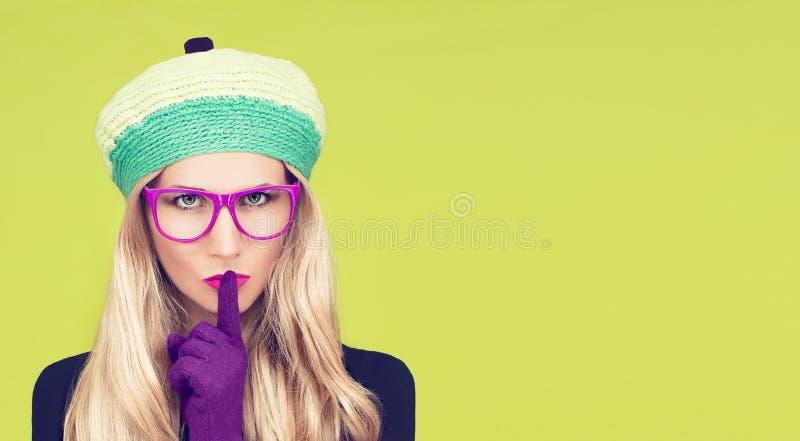Autumn girl secret stock images