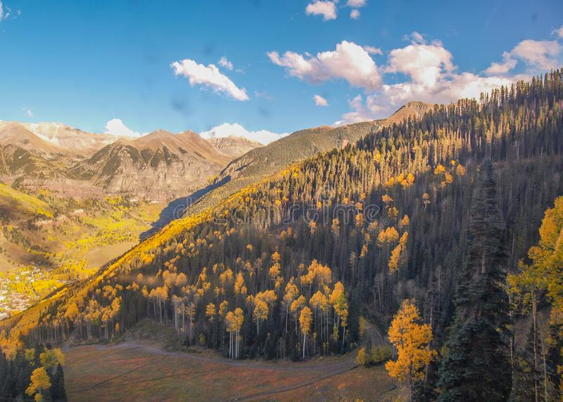 Autumn Gold en el San Juan Mountains imagen de archivo libre de regalías
