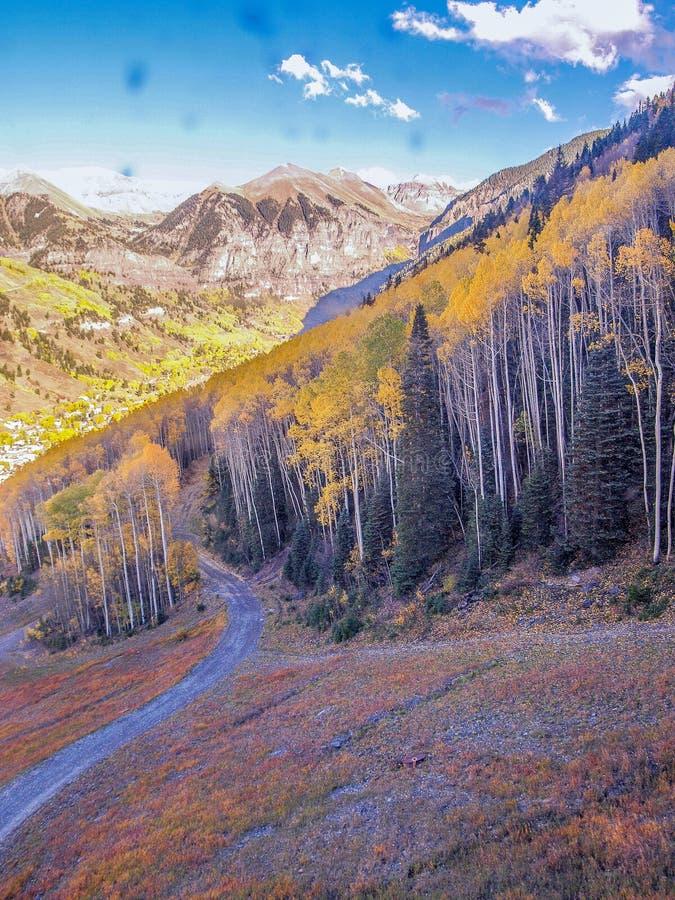 Autumn Gold en el San Juan Mountains fotos de archivo libres de regalías
