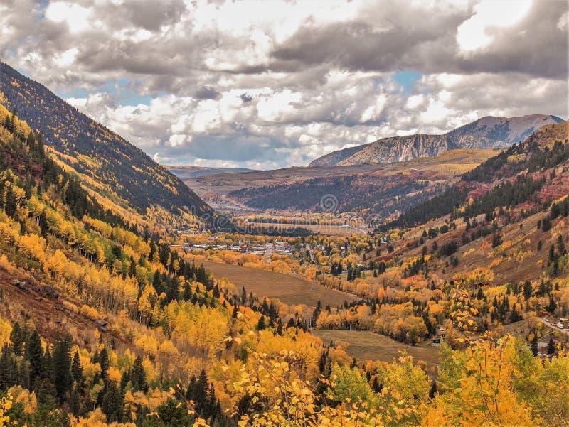 Autumn Gold en el San Juan Mountains fotos de archivo