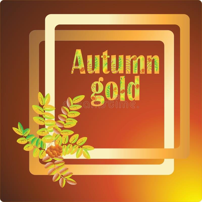 Autumn Gold Vectorbeeld voor banners, uitnodigingen royalty-vrije illustratie