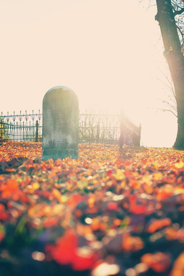 Free Autumn Graveyard Royalty Free Stock Image - 28346866