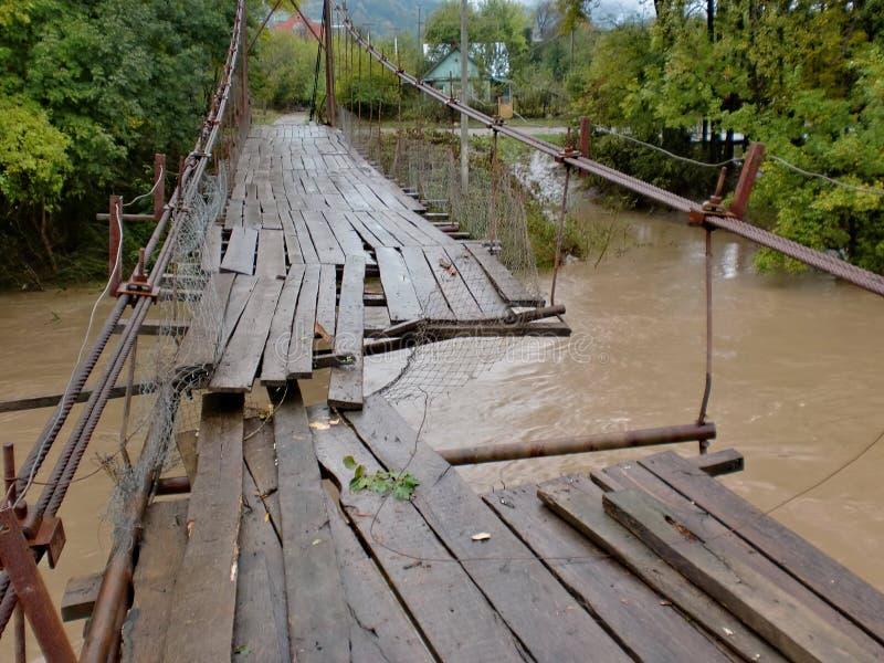 Autumn. A great flood on the mountain river.Осень. Большое наводнение на горной реке. stock photos