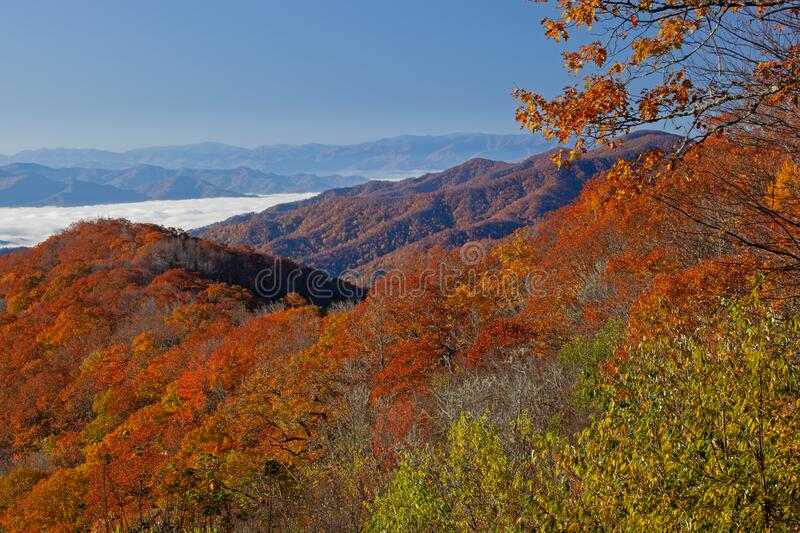Autumn Great Smoky Mountains National Park stock images