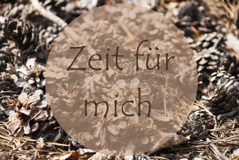 Autumn Greeting Card Zeit Fuer Mich hjälpmedel Tid för mig arkivfoton