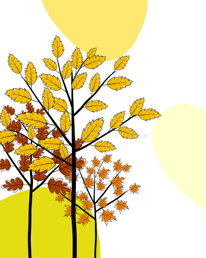 Download Autumn Greeting Doodle Card Stock Vector - Image: 26563938