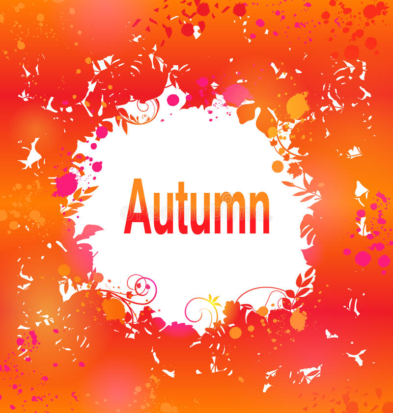 Autumn Grunge Background, Abstract Decoratief Kader royalty-vrije illustratie