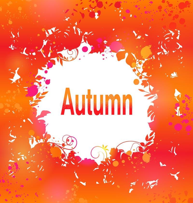 Autumn Grunge Background, struttura decorativa dell'estratto royalty illustrazione gratis