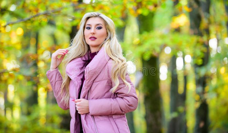 Autumn hair care concept. Cold blonde concept. How to repair bleached hair fast and safely. Autumn hair care is. Important so as to avoid dry frizzy hair. Girl stock image