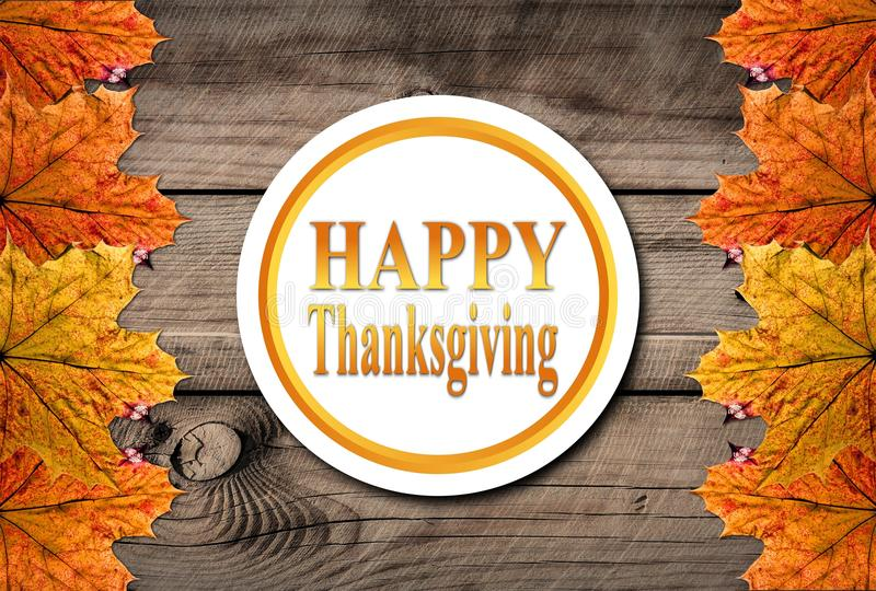 Autumn Happy Thanksgiving Background illustration stock