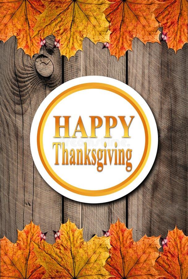 Autumn Happy Thanksgiving Background vektor abbildung