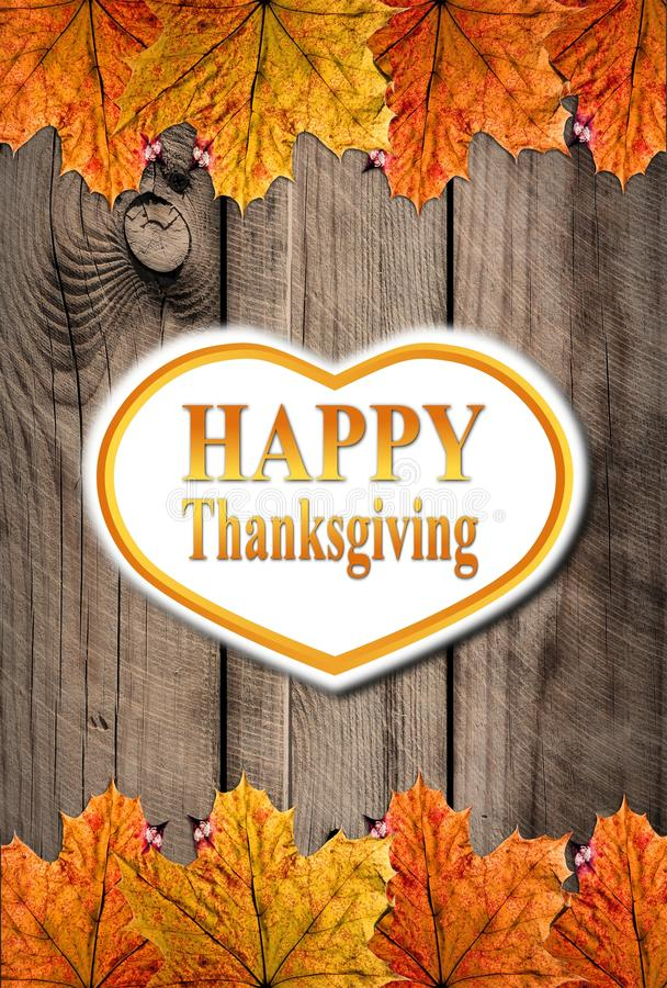 Autumn Happy Thanksgiving Background stock abbildung