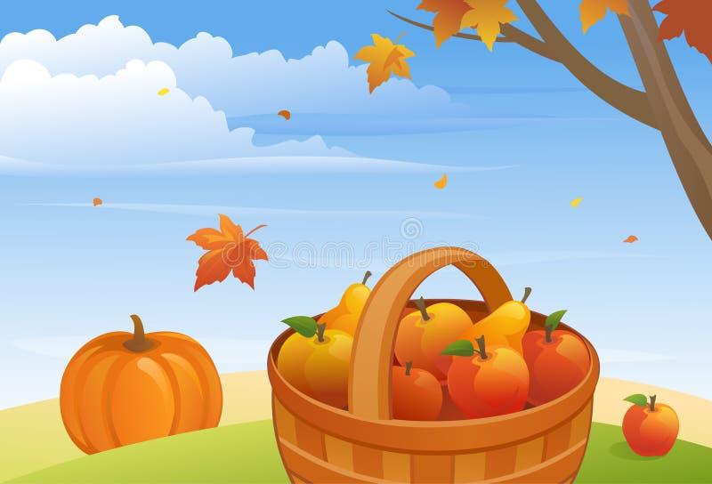 Download Autumn Harvest ilustración del vector. Ilustración de otoño - 42428692