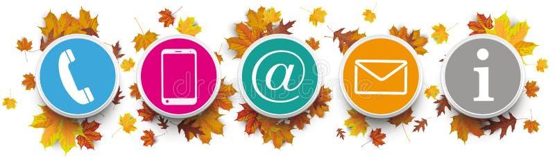 Autumn Harvest Contact US kreist Informationen ein vektor abbildung