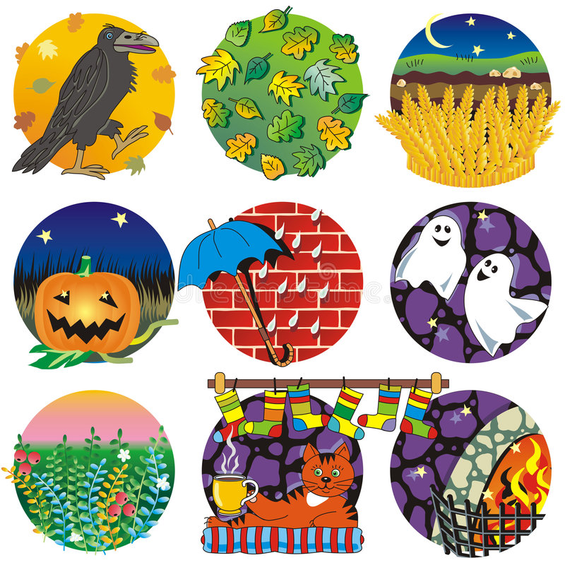 Autumn, harvest, Halloween stock illustration