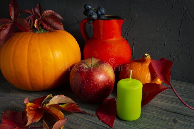 Autumn Harvest och ferietacksägelsestilleben arkivbild