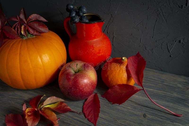 Autumn Harvest och ferietacksägelsestilleben royaltyfria foton