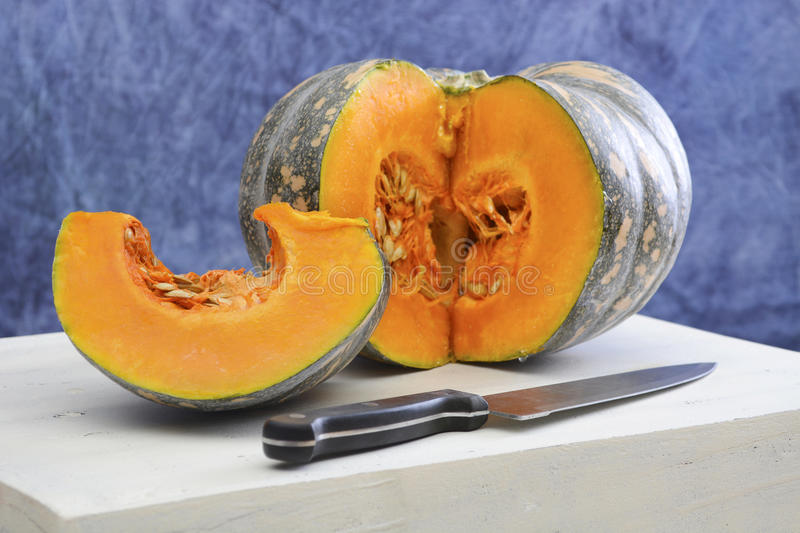 Autumn Harvest pumpkin food preparation. stock photography