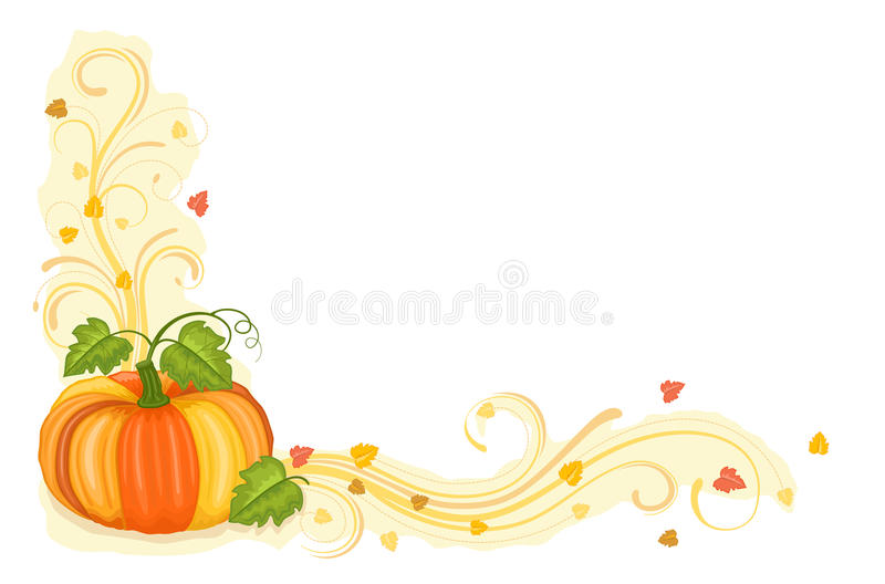 Download Autumn Harvest With Tasty Pumpkin Stock Vector - Image: 15612028