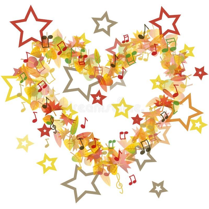 Autumn heart illustration royalty free illustration