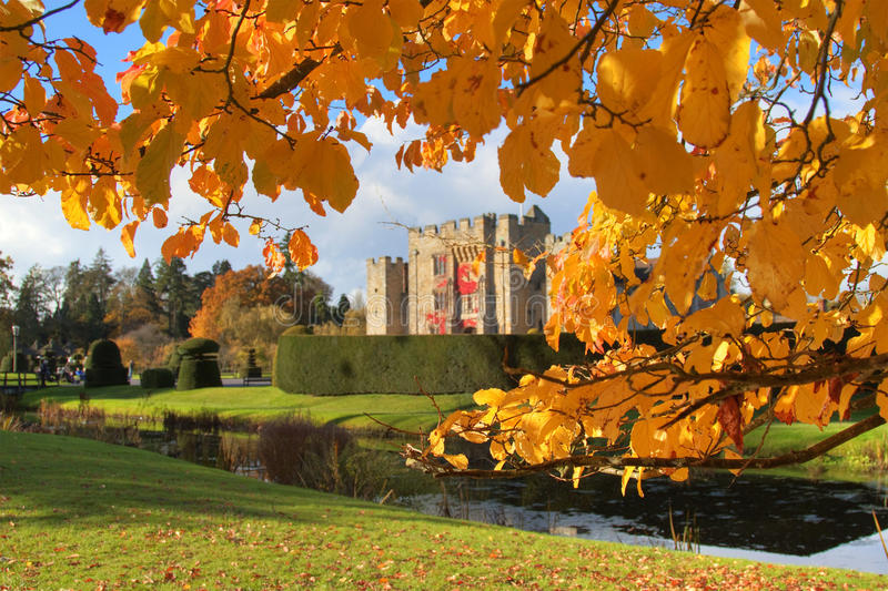 Download Autumn in Hever Castle stock photo. Image of saturated - 16874744