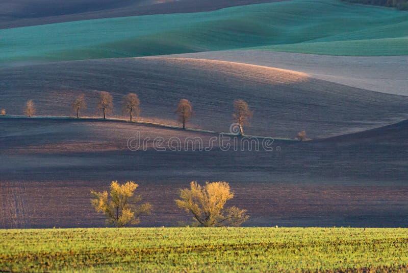 Autumn hills of Moravia. Czech Republic stock images
