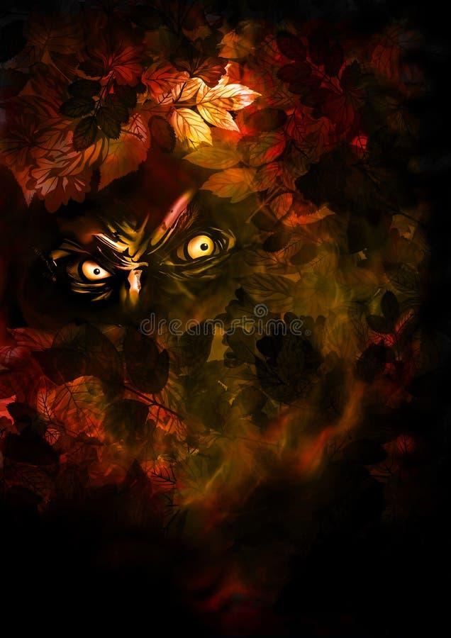 Autumn horror background stock illustration
