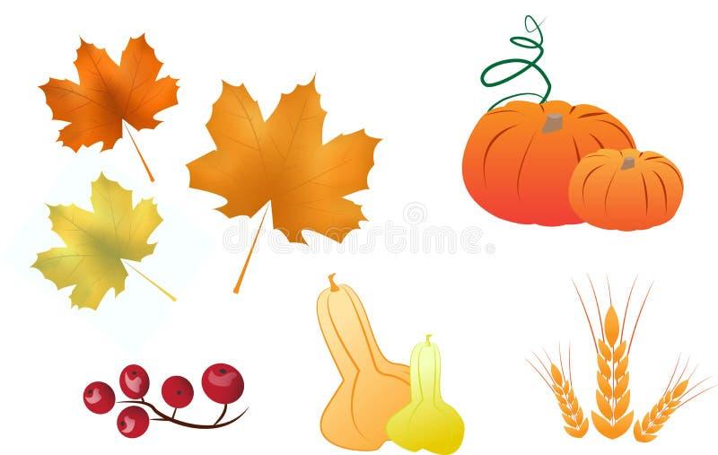 Autumn Icons stock illustrationer