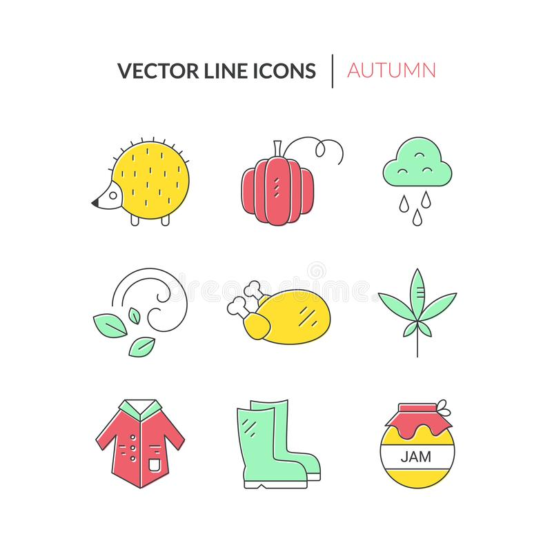Autumn Icons Collection stock illustratie