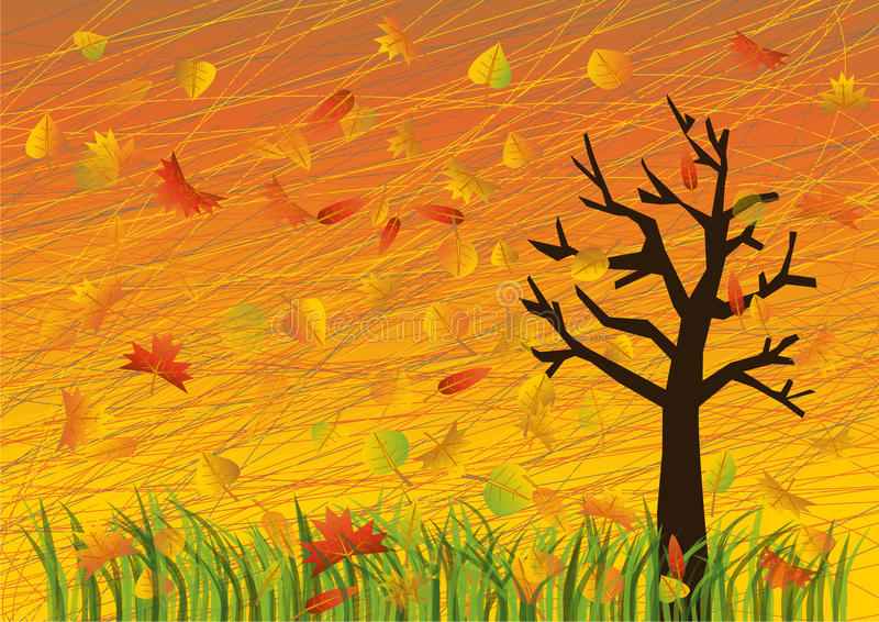 Download Autumn illustration stock vector. Image of color, graphic - 26538569