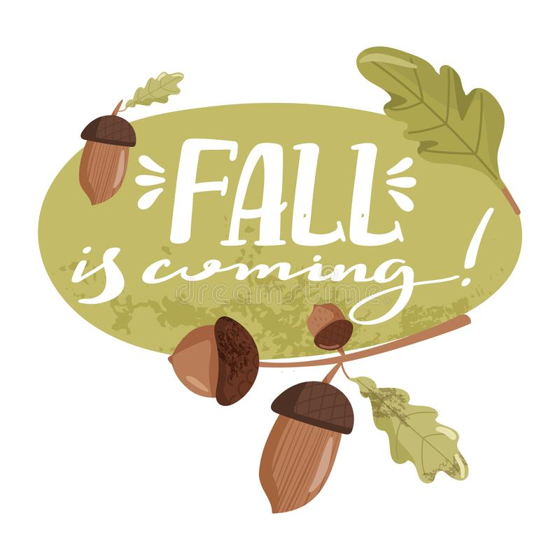 Autumn illustration. Fall is coming stock illustration
