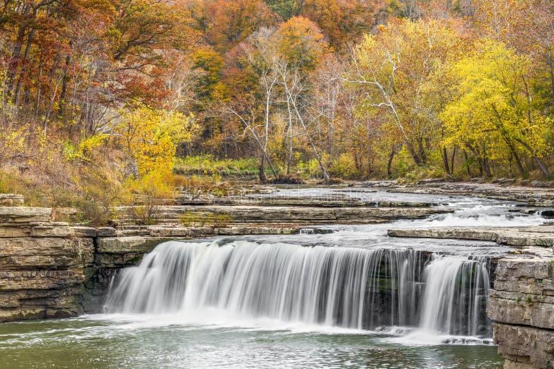 Autumn Indiana Waterfall stock image