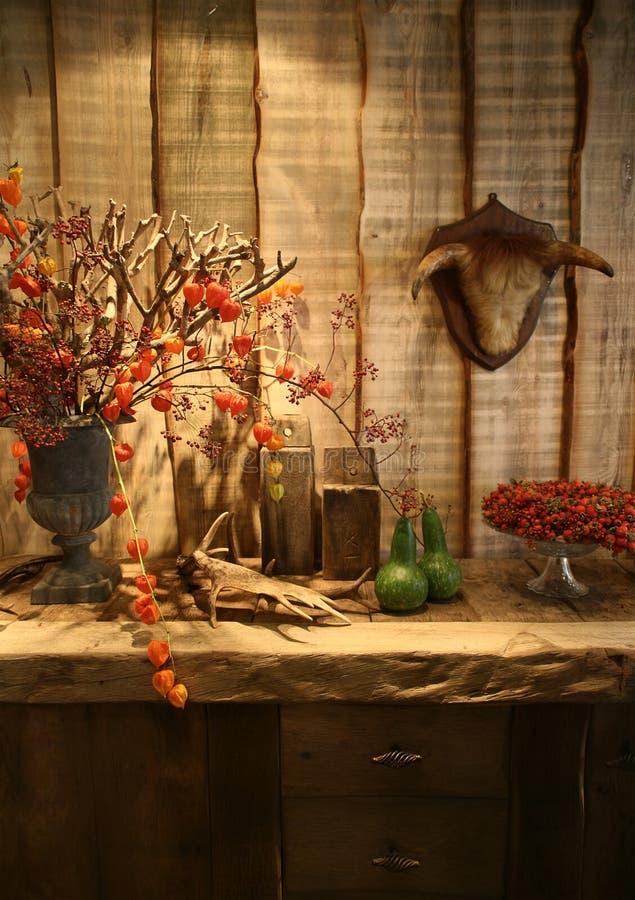 Autumn in interior stock photography