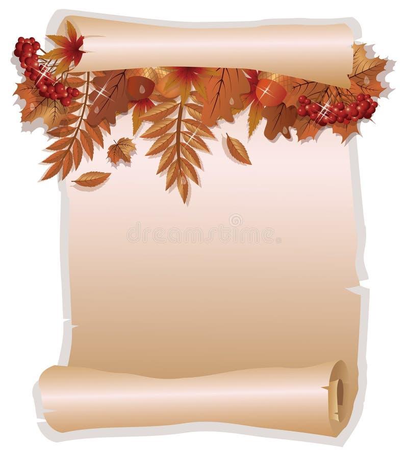 Autumn invitation card in old style stock vector illustration of download autumn invitation card in old style stock vector illustration of acorn fashion stopboris Choice Image