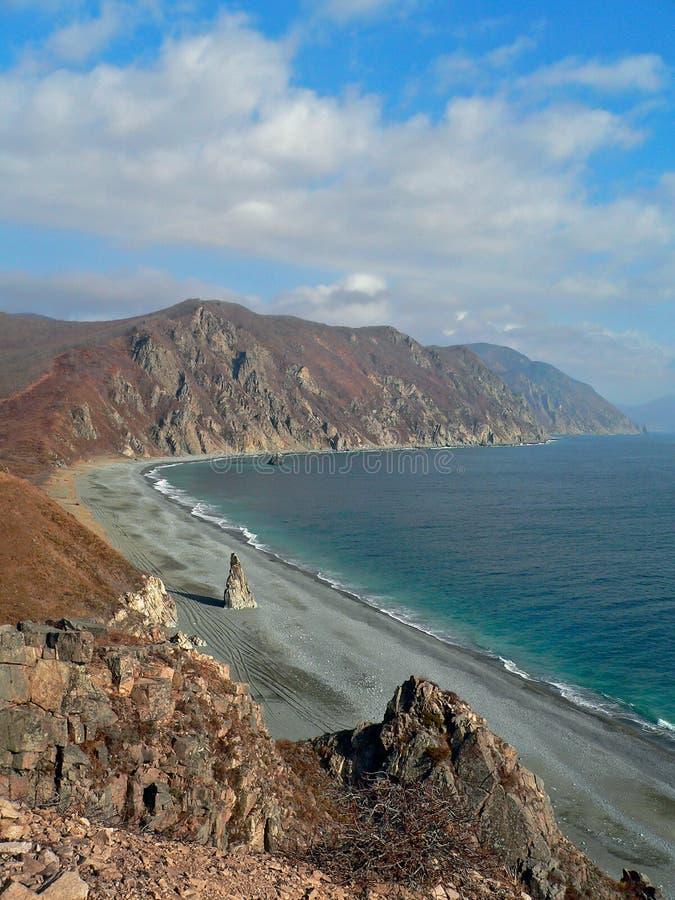 Autumn on Japanese Sea stock photo