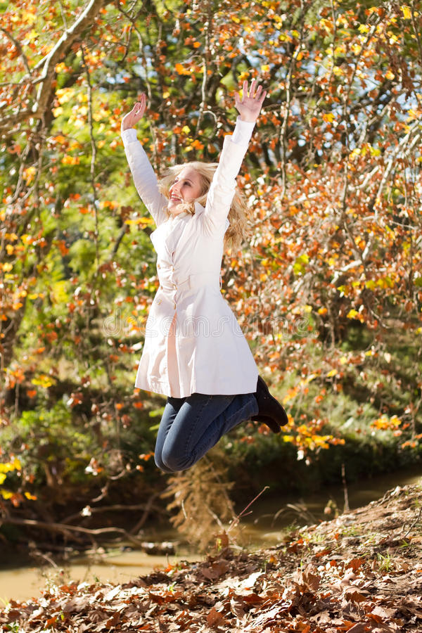 Download Autumn joy stock image. Image of autumn, carefree, jump - 14878329