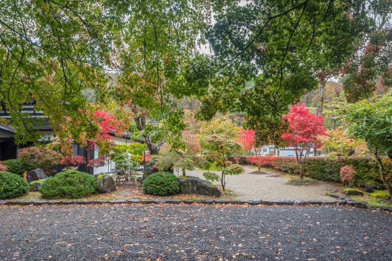 Autumn in kakunodate. Beautiful Autumn leaves in kakunodate Akita , Japan stock image