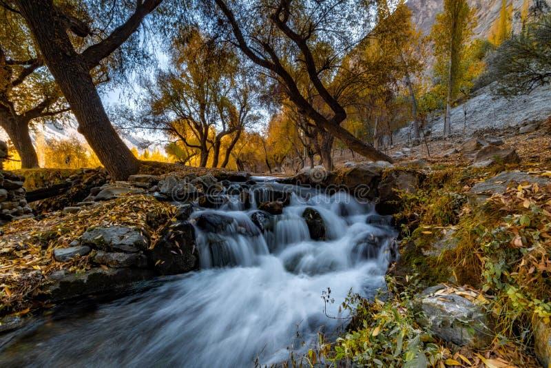Autumn Khaplu stockfotografie