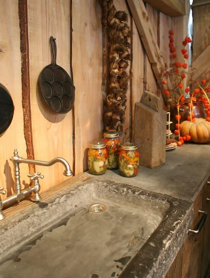 Autumn in kitchen royalty free stock photo
