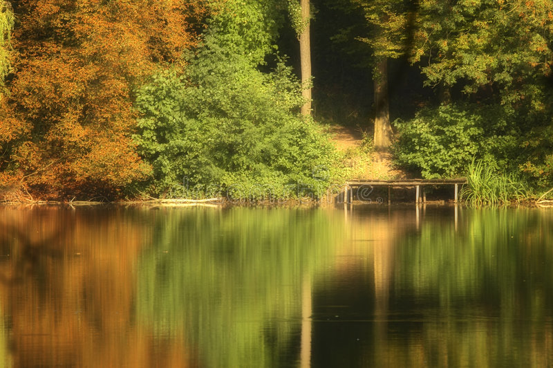 autumn kolor jeziora fotografia royalty free