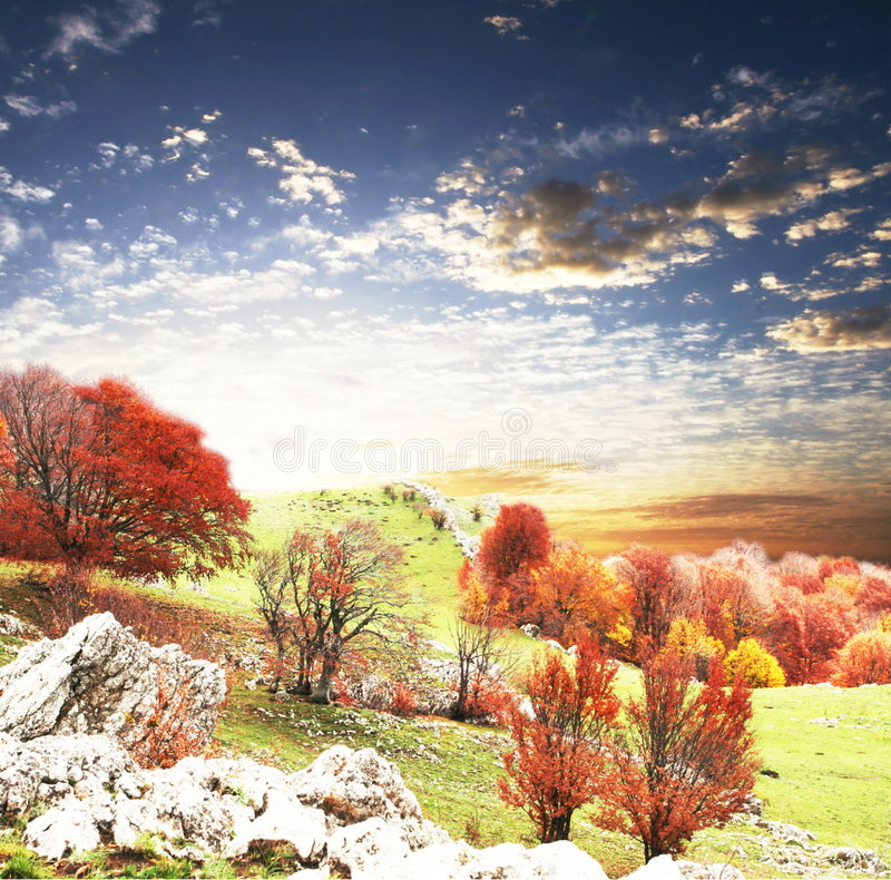 autumn krajobrazy obraz royalty free