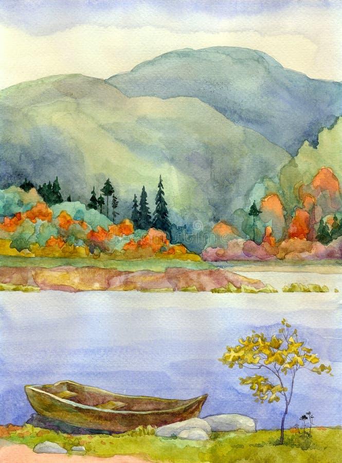 Autumn Lake stock illustration