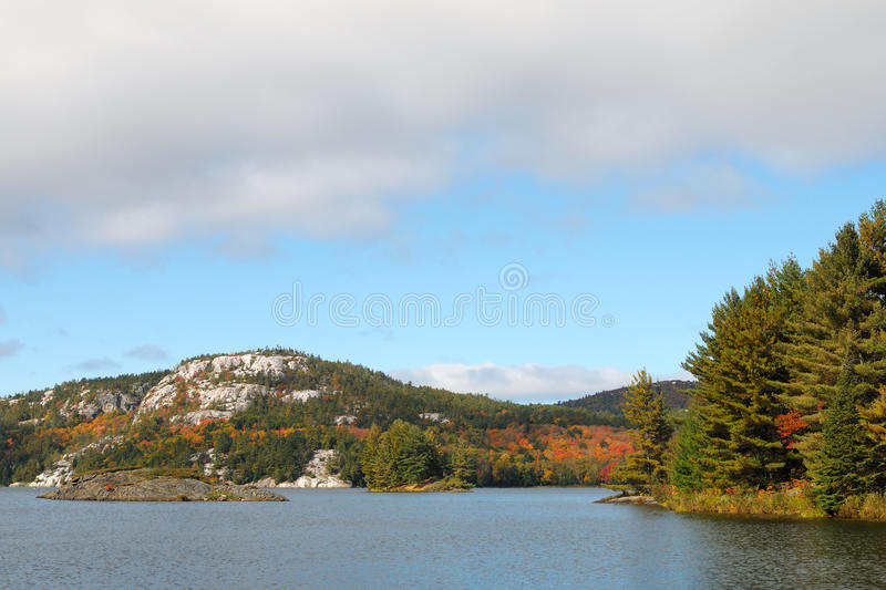 Download Autumn Lake stock image. Image of mountain, hill, sunny - 17023131